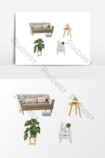 elemento gráfico de vector de sala de estar de muebles Elementos graficos Modelo PSD