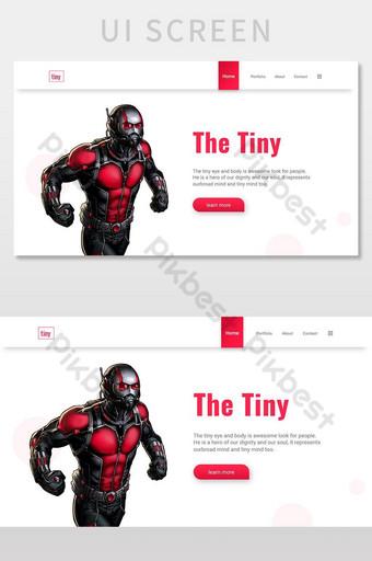 The Tiny Antman UI Design for Web Designers UI Screen UI Template AI