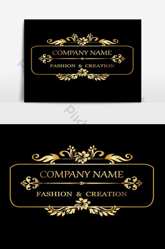 plantilla de logotipos de lujo creativo caligrafía vintage elemento gráfico de vector elegante Elementos graficos Modelo AI