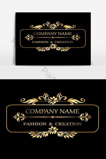 plantilla de logotipos reales de lujo caligrafía vintage elemento gráfico de vector elegante Elementos graficos Modelo AI