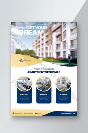 pamflet real estat perusahaan Templat PSD