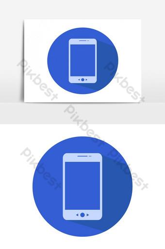 elemento gráfico de vector de icono de teléfono inteligente Elementos graficos Modelo EPS