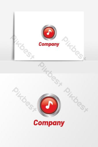elemento gráfico de vector de diseño de logotipo de música creativa Elementos graficos Modelo AI