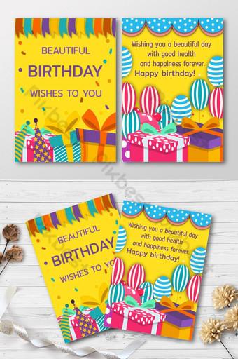 Invitation de carte de joyeux anniversaire Modèle AI