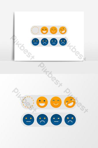 elemento de icono de emoción de vector elemento gráfico de vector png Elementos graficos Modelo PSD