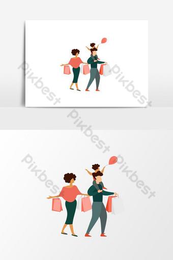 vector elemento de compras familiares png elemento gráfico vectorial Elementos graficos Modelo PSD