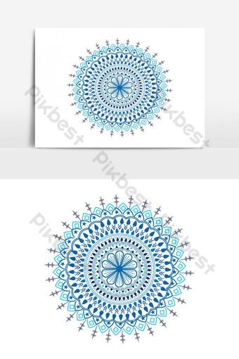 Ilustración de patrón de círculo de mandala árabe de elemento gráfico de vector islámico floral decorativo Elementos graficos Modelo EPS