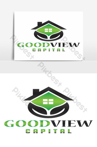 buena vista capital logo diseño vector elemento gráfico Elementos graficos Modelo AI