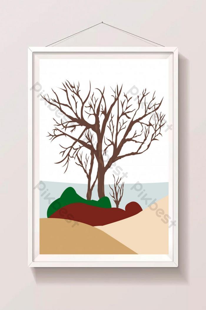 bela árvore ilustração arte