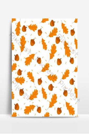 conjunto de vectores de diseño de otoño para fondos de pantalla textiles de tarjetas de saludos Fondos Modelo PSD