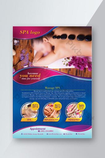 plantilla de photoshop de volante de promoción de spa y masajes Modelo PSD