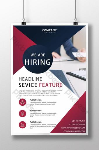 Affiche de flyer de recrutement d'entreprise géométrique Modèle PSD