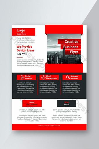 Modèle de conception de flyer d'entreprise élégant pour l'image de marque de l'entreprise Modèle PSD