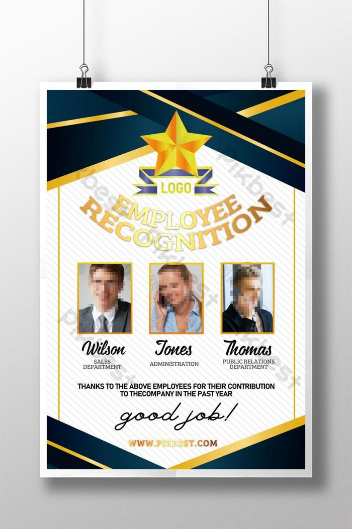 Company Excellent Employee Recognition Poster Template Psd Free Download Pikbest
