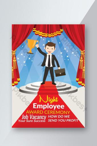 Mẫu tờ rơi kinh doanh đêm trao giải thưởng nhân viên Bản mẫu PSD
