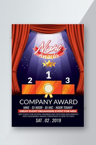 Mẫu tờ rơi đêm trao giải thưởng nhân viên công ty Bản mẫu PSD