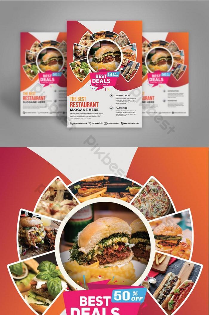 Restaurant Flyer Modern And Orange Color Psd Free Download Pikbest