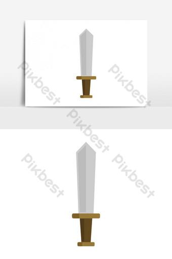 elemento gráfico de vector de icono de espada Elementos graficos Modelo EPS