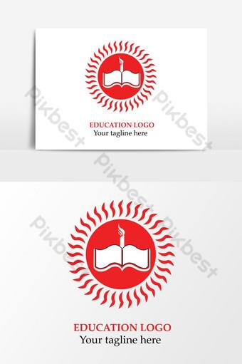 elemento gráfico de vector rojo logo de educación Elementos graficos Modelo AI