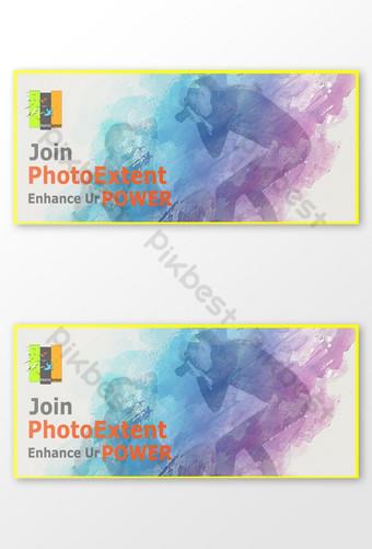 multi-warna foto sampul facebook dramatis atau spanduk atau gambar Templat AI