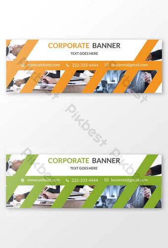 diseño de banner corporativo simple para su elemento de vector de empresa Modelo PSD