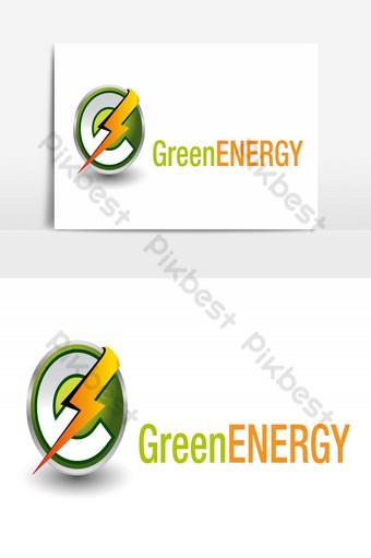 الإبداعية تصميم شعار الطاقة الخضراء عنصر الرسم ناقلات صور PNG قالب AI