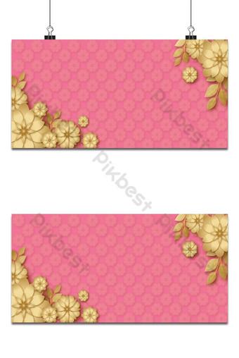 plantilla de fondo de color rosa de destellos dorados Fondos Modelo AI