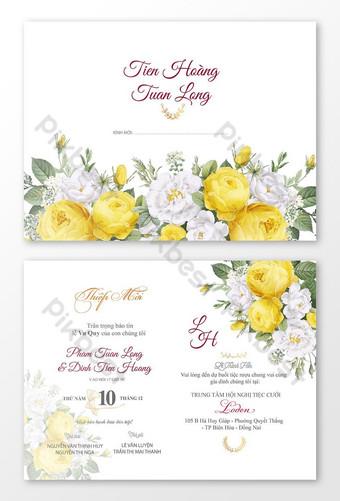 زفاف سعيد بطاقة زفاف جميلة للزينة الزفاف زهرة الزفاف الخاص بك قالب AI