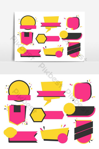 Collection of sale and discount banner template design vector set PNG Images Template AI