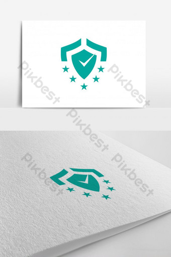 Review icon design vector 5 star with check mark and shield Template AI