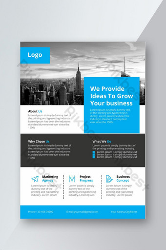Modèle de conception de flyer d'entreprise minimal pour l'image de marque de l'entreprise Modèle PSD
