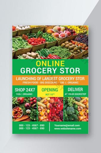 folleto de la tienda de comestibles en línea Modelo PSD