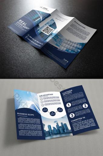 Modèle de page à trois volets pour la promotion immobilière Modèle PSD