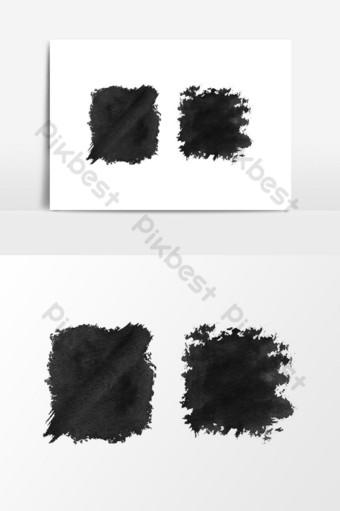 수채화 검은 질감 배경 클립 아트 벡터 그래픽 요소 일러스트 템플릿 PSD