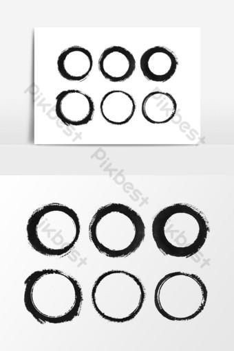 acuarela textura redonda negra para elementos de diseño elemento gráfico vectorial Elementos graficos Modelo PSD