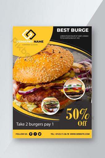 Flyer de nourriture de restaurant créatif Modèle AI