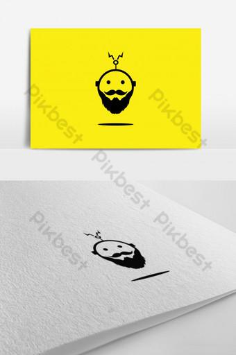 robot logo robot con icono de barba Modelo AI