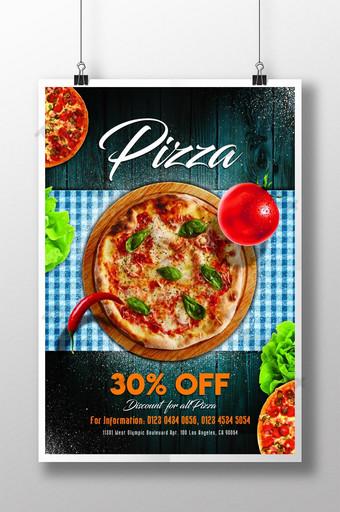 cartel de promoción de pizza Modelo PSD