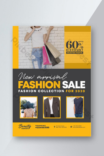 Modèle de Flyer de vente de mode Modèle PSD