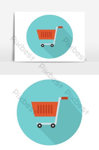 elemento gráfico de vector de iconos de carrito de compras Elementos graficos Modelo EPS