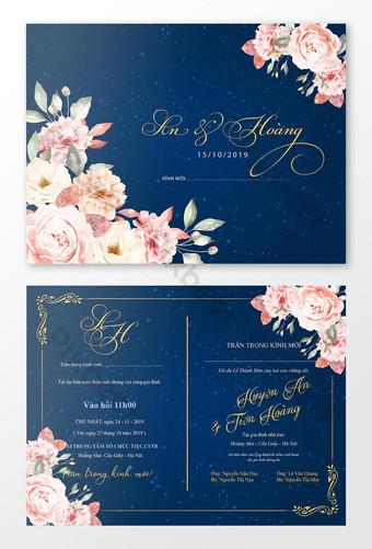 بطاقة دعوة الزفاف قالب دعوة جميل لتصميم بطاقة دعوة فاخرة ليوم سعيد قالب AI