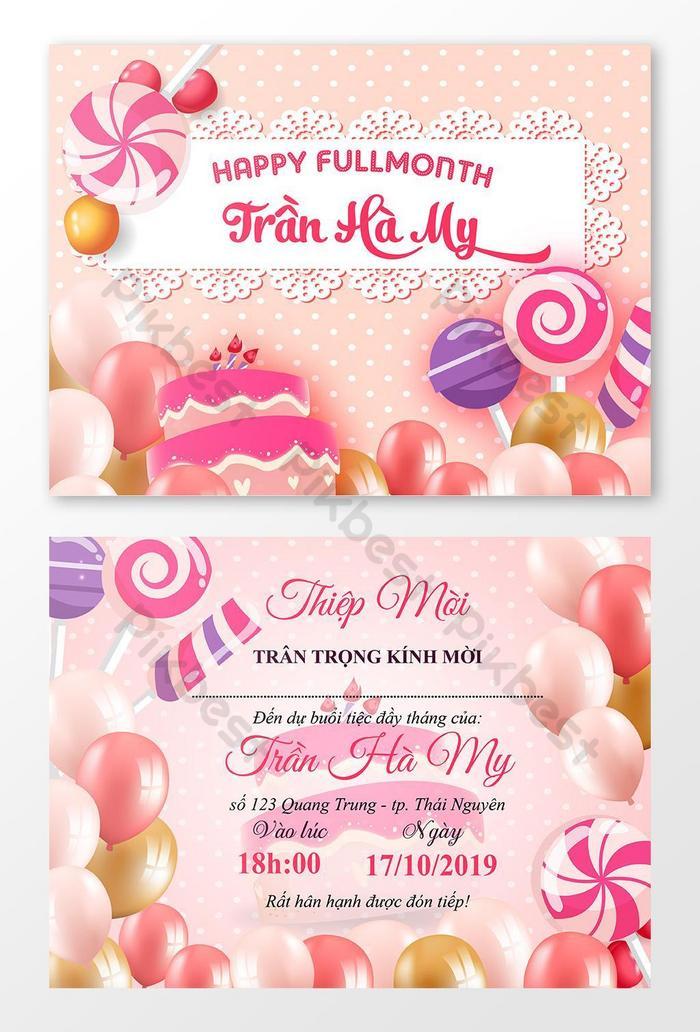 Birthday Card Happy Birthday Invitation Template Beautiful Birthday Card Template Ai Free Download Pikbest