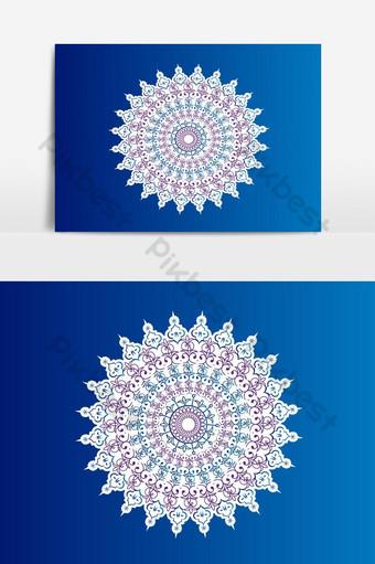 diseño de vector de elemento islámico floral decorativo árabe tradicional musulm Elementos graficos Modelo EPS