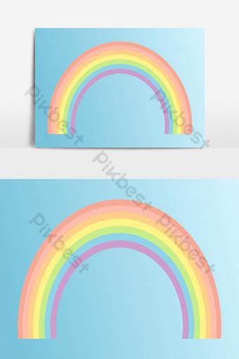 arco iris vector fondo color ilustración lluvia icono arco abstracto arte vector elemento gráfico Elementos graficos Modelo EPS