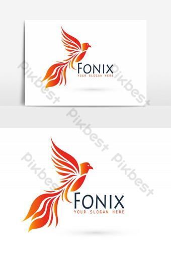 elemento gráfico de vector de fonix de diseño de logotipo de empresa creativa Elementos graficos Modelo AI