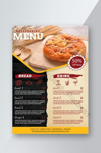 Affiche de flyer géométrique de nourriture fraîche Modèle PSD