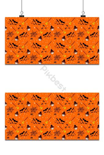 bruja de patrones sin fisuras y fondo de flor mágica Fondos Modelo EPS