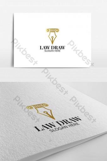 ley dibujar vector logo para logo de identidad corporativa Modelo AI