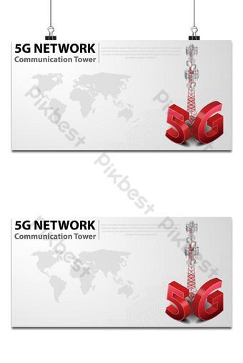 Torre de comunicación 5g internet inalámbrico de alta velocidad con centro de datos con fondo de placa de circuito Fondos Modelo AI