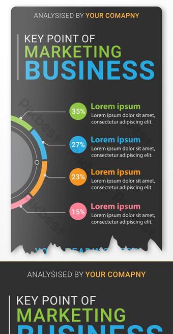 Stylish Modern Marketing Key Point Infographics Template AI